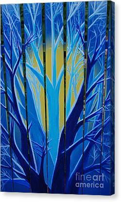 Forest Fence By Jrr Canvas Print by First Star Art