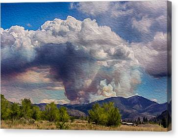 Forest Fire South Of Twisp Canvas Print by Omaste Witkowski
