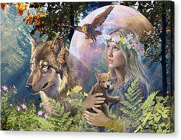 Forest Friends Canvas Print by Steve Read