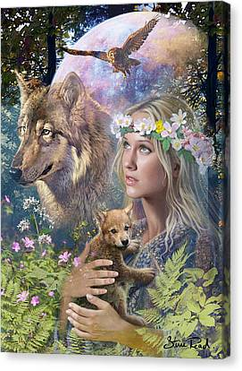 Forest Friends Variant 1 Canvas Print by Steve Read