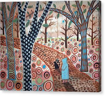 Forest Garden Canvas Print by Karla Gerard