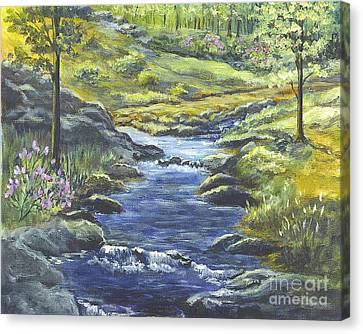 Forest Glen Brook Canvas Print by Carol Wisniewski