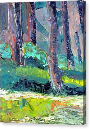 Canvas Print featuring the painting Forest In Motion by Julie Maas