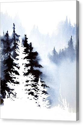 Forest Indigo Canvas Print by Teresa Ascone