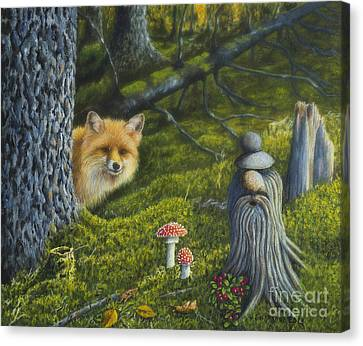 Forest Life Canvas Print by Veikko Suikkanen