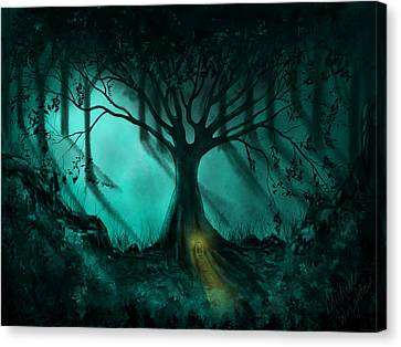 Landscape Canvas Print - Forest Light Ethereal Fantasy Landscape  by Michelle Wrighton