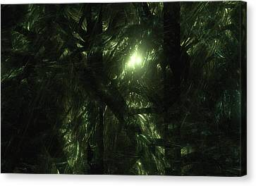 Canvas Print featuring the digital art Forest Light by GJ Blackman