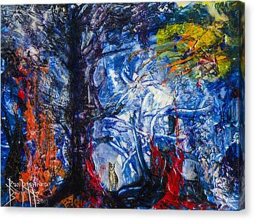 Forest Light Canvas Print by Ron Richard Baviello