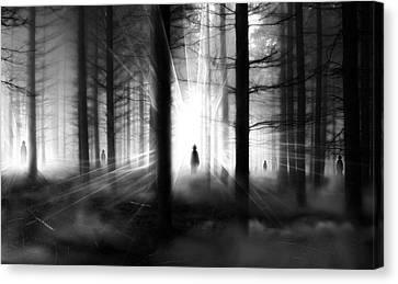 Canvas Print featuring the photograph Forest... by Mariusz Zawadzki