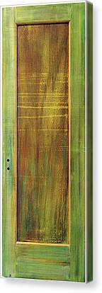 Forest Painted Door Canvas Print by Asha Carolyn Young