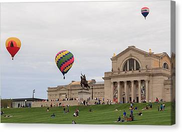 Forest Park Balloon Race Canvas Print by Scott Rackers
