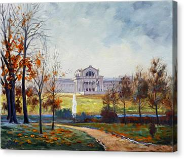 Forest Park Fall Saint Louis Canvas Print by Irek Szelag