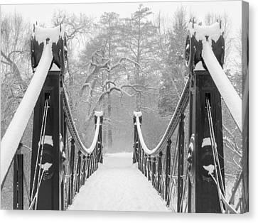 Forest Park Victorian Footbridge Canvas Print by Scott Rackers