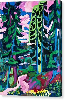 Forest Path In Summer Canvas Print by Ernst Ludwig Kirchner