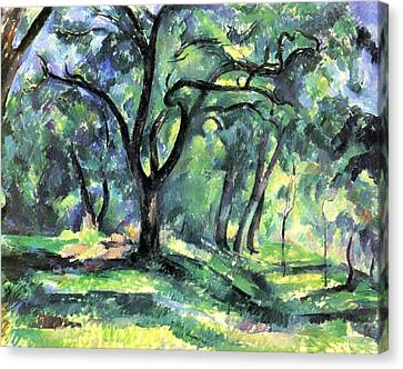 Forest Canvas Print by Paul Cezanne