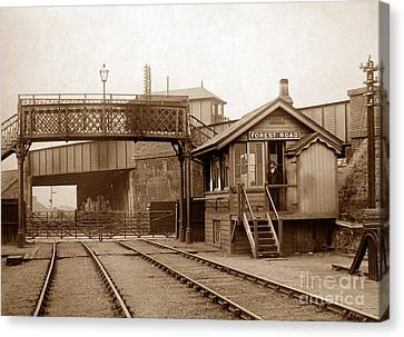 Forest Road Signal Box Leicester England In 1903 Canvas Print by The Keasbury-Gordon Photograph Archive