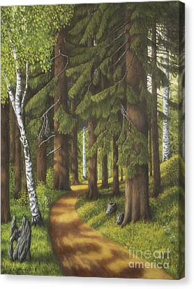 Forest Road Canvas Print by Veikko Suikkanen