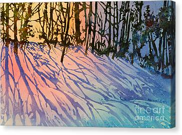 Forest Silhouettes Canvas Print by Teresa Ascone