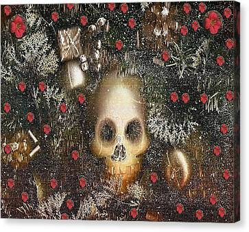 Forest Skull Pop Art Canvas Print by Pepita Selles