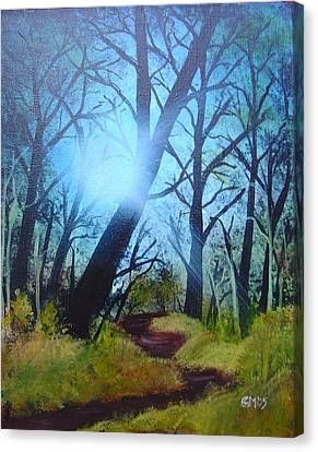 Canvas Print featuring the painting Forest Sunlight by Charles and Melisa Morrison