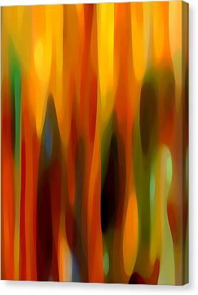 Forest Sunlight Vertical Canvas Print by Amy Vangsgard