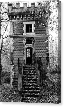 Abandoned House Canvas Print - Forest Tower by Georgia Fowler