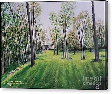 Forest View Canvas Print by Usha Rai