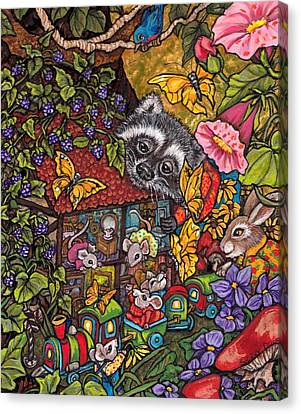 Forest Whimsey Canvas Print by Sherry Dole