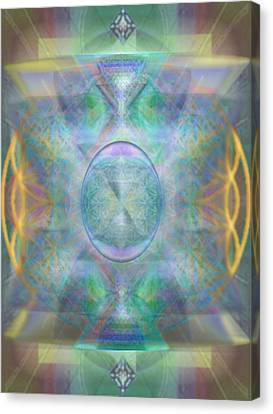 Forested Chalice In The Flower Of Life And Vortexes Canvas Print by Christopher Pringer