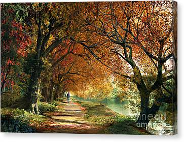 Pathway Canvas Print - Forever Autumn by Dominic Davison