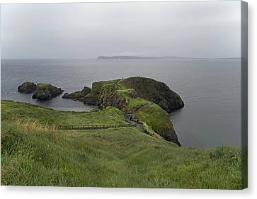 Mystical Landscape Canvas Print - Forever Green Carrick-a-rede Northern Ireland by Betsy Knapp