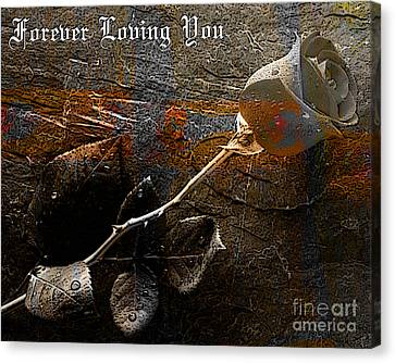 Valentines Day Canvas Print - Forever Loving You by Marvin Blaine