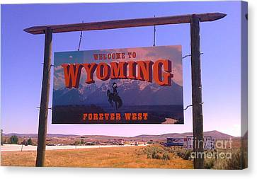 Canvas Print featuring the photograph Forever West by Chris Tarpening