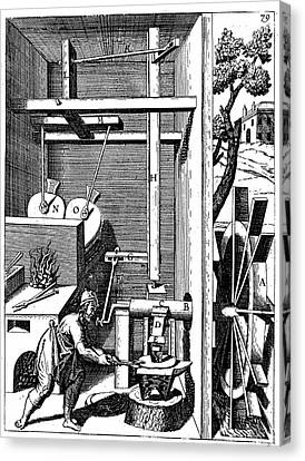 Forge Showing Bellows And Hammer Canvas Print