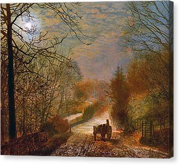 Forge Valley Near Scarborough Canvas Print by John Atkinson Grimshaw
