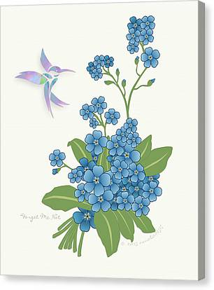 Forget Me Not Flower Canvas Print by Gayle Odsather