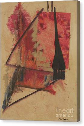 Canvas Print featuring the painting Forgive My Tears by Mini Arora