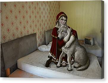 Wolves Canvas Print - Forgiveness by Mark Zelmer