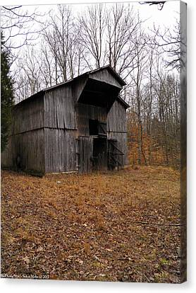 Canvas Print featuring the photograph Forgotten Barn by Nick Kirby