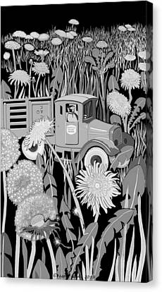 Canvas Print featuring the drawing Forgotten by Carol Jacobs