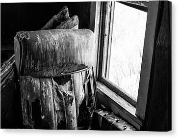 Forgotten Chair By The Window Canvas Print by Nathan Hillis