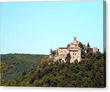 South Of France Canvas Print - Forgotten Chateau by Manuela Constantin