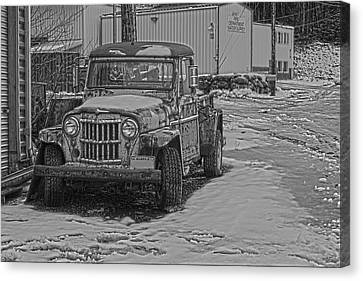 Canvas Print featuring the pyrography Forgotten Classic Truck by Timothy Latta