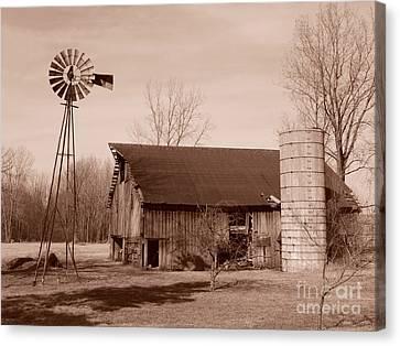 Forgotten Farm Canvas Print by Judy Whitton