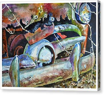 Forgotten Forty-nine Ford Canvas Print by Rick Mock