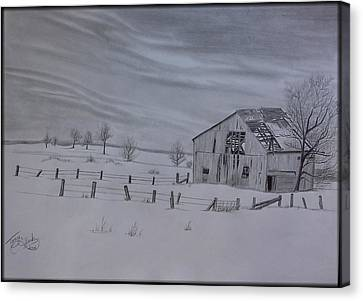 Forgotten In The Snow Canvas Print by Tony Clark