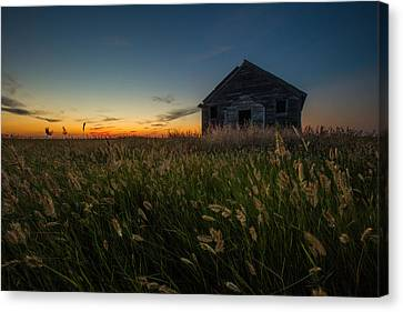 School Houses Canvas Print - Forgotten On The Prairie by Aaron J Groen