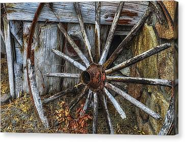 Forgotten Wheel Canvas Print by Camille Lopez