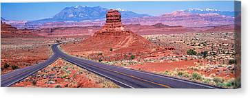 Fork In Road, Red Rocks, Red Rock Canvas Print by Panoramic Images