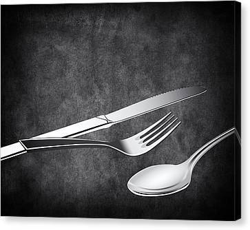 Fork Knife Spoon 10 Canvas Print by Angelina Vick